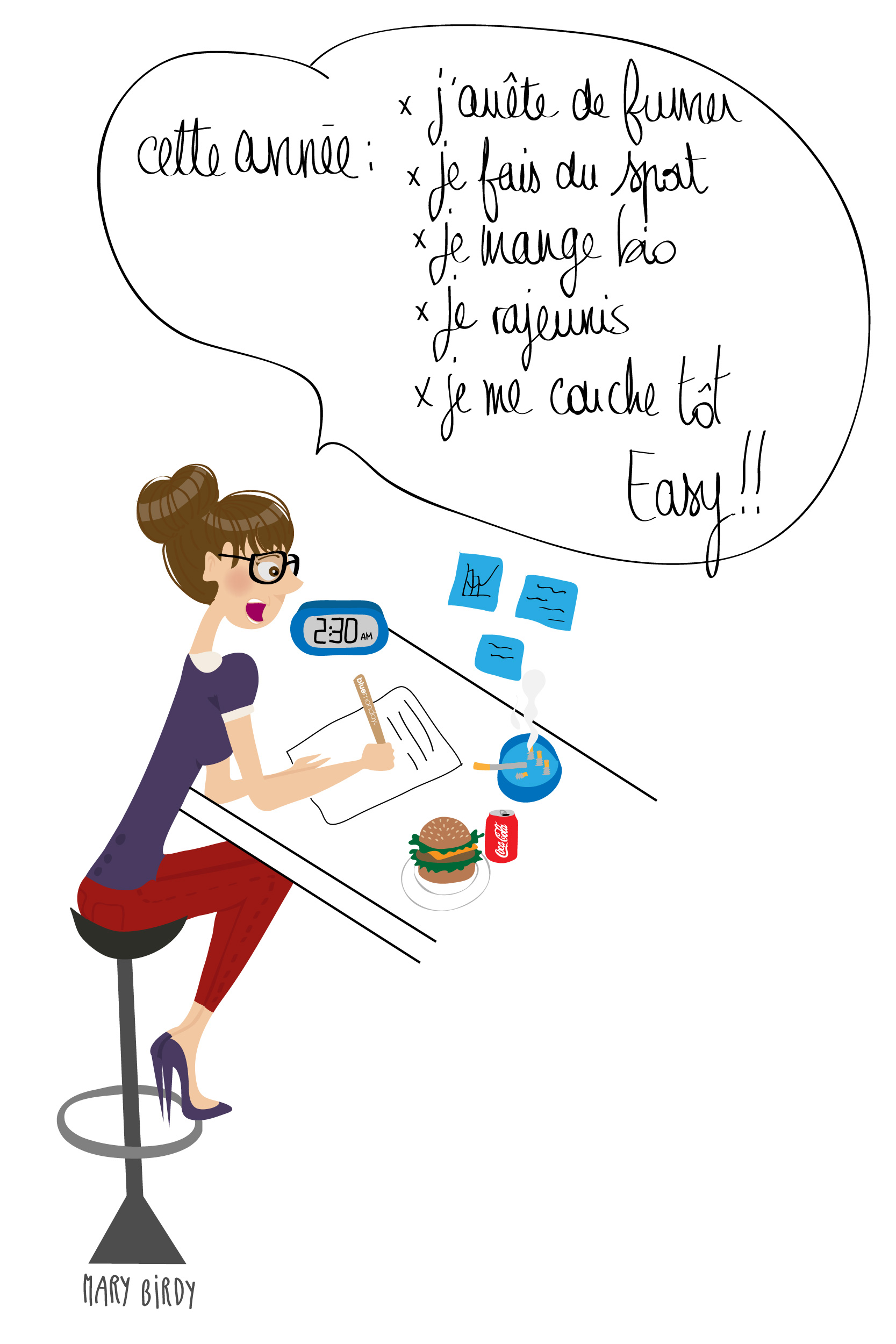 Newsletter JANVIER 2013 Bluemonday par Mary Birdy