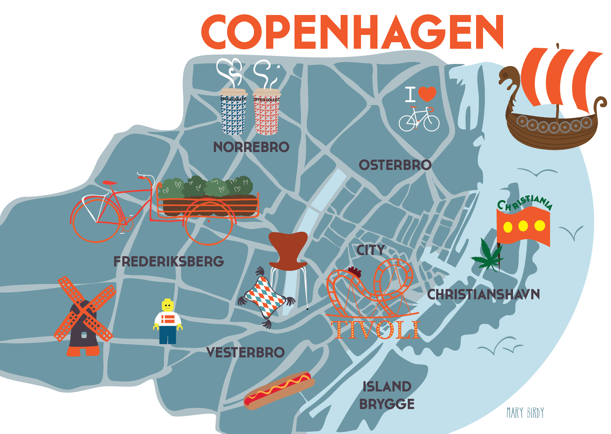 Copenhagen Map par Mary Birdy-01-01